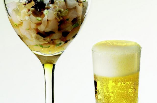 Tartare de Saint-Pierre et huître en gelée de Bière de Printemps - Photo par La bière de printemps