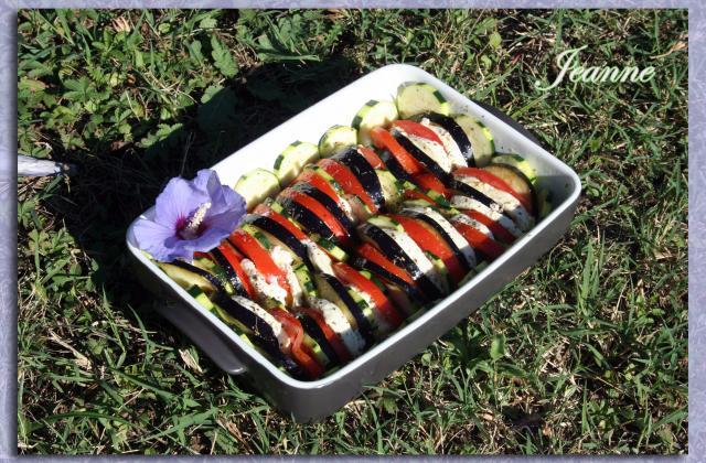 Tian de légumes et mozzarella - Photo par Jeanne la malice