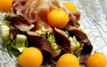Salade duo de jambon au melon - Photo par maryseKt