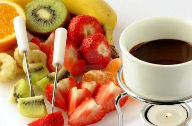 La fondue au chocolat allégée - Photo par mimicuisine
