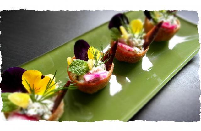 Bouchées cottage cheese et crème d'artichaut - Photo par audrey bureau