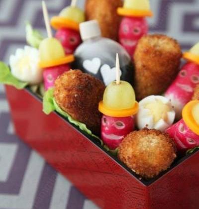 Croquettes de poulet aux épices et leurs gardes du corps - Photo par le miam miam blog