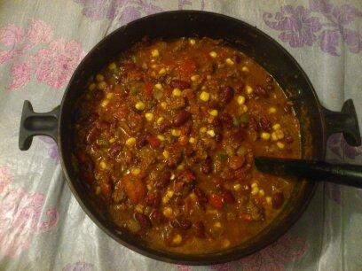 Chili con carne, un repas apprécié vite préparé - Photo par alexandra75