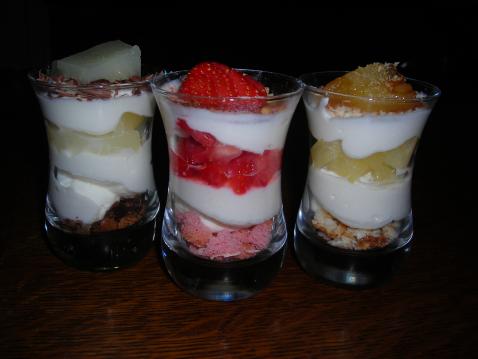 Verrines au mascarpone et fraise des bois - Photo par leplai