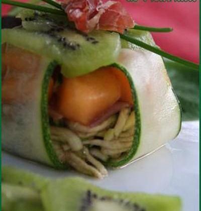 Timbale de courgette au melon - Photo par petitsc