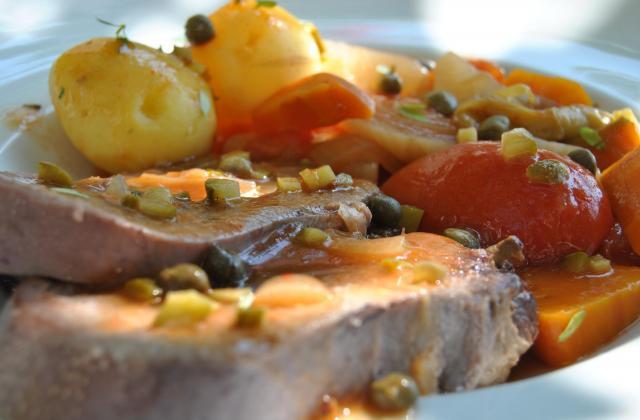 Langue de boeuf à la sauce piquante et câpres - Photo par cricri3005