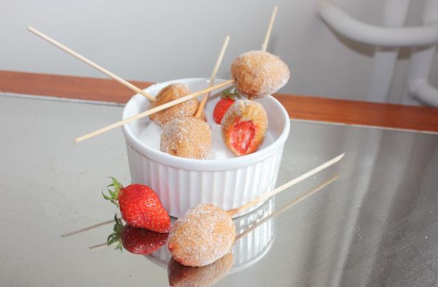Beignets aux fraises fraîches - Photo par mariondP