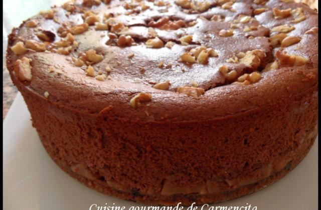 Cheesecake chocolat-poires & noix - Photo par Carmen