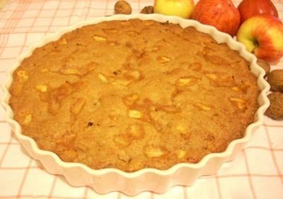 Gâteau pommes et noix - Photo par La soupe à la citrouille