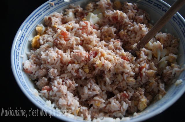 Salade de riz thon et tomate - Photo par Maki cuisine
