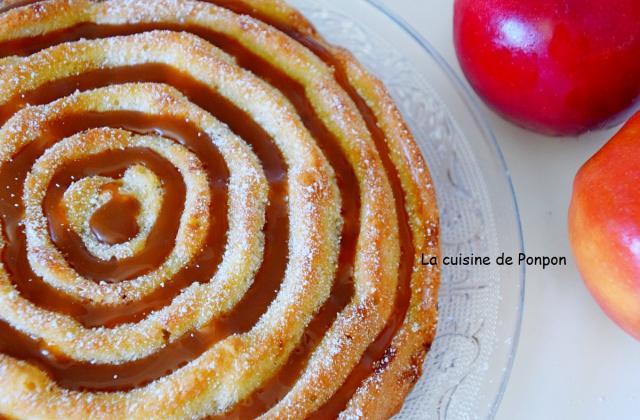 Gâteau moelleux aux pommes flambées - Photo par Ponpon