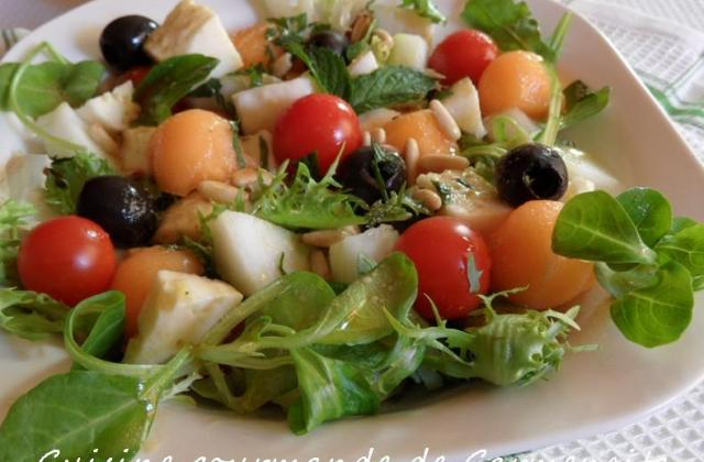 Méli mélo d'été au melon et mozzarella - Photo par Carmen