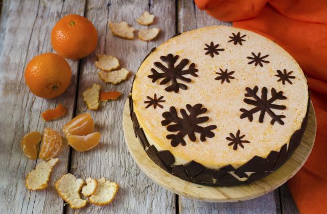 Cheesecake aux clémentines et flocons de chocolat - Photo par Bérengère
