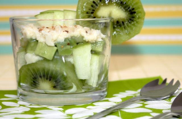 Salade acidulée de crabe, kiwi, et avocat - Photo par amandine cooking
