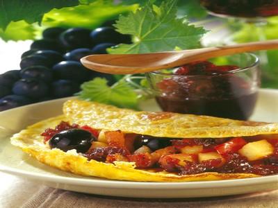 Omelette bio en chausson à la vigneronne - Photo par Printemps Bio