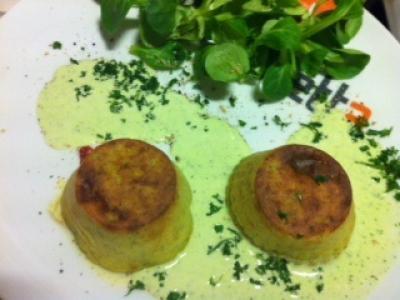 Moelleux de courgettes au cœur coulant - Photo par La cuisine d'Eve