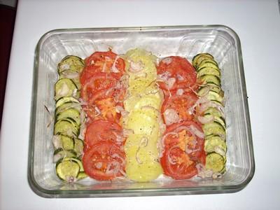 Gratin de courgettes, tomates et pommes de terre - Photo par cas_bonbon