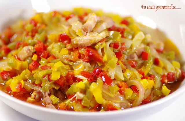 Salade de poivrons au bacon - Photo par entout