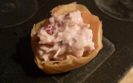 Amuse-bouche poulet et canneberges - Photo par carinette