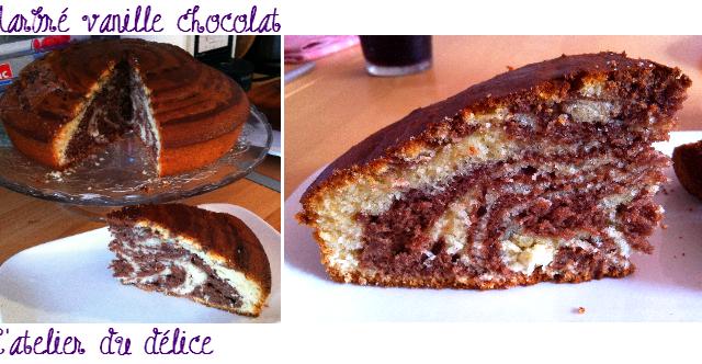 Gâteau zébré moelleux au chocolat - Photo par juliepYS