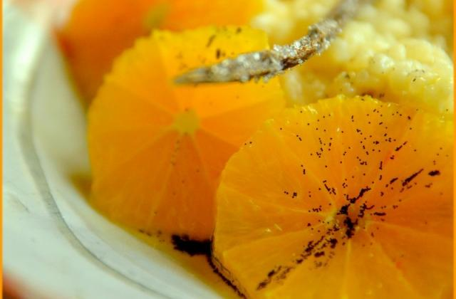 Riz au lait, orange maltaise et huile d'olive à la vanille - Photo par Chef Damien