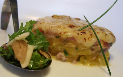 Gratin d'Automne : potiron-chataigne-jambon cru-Cantal... - Photo par vicnen