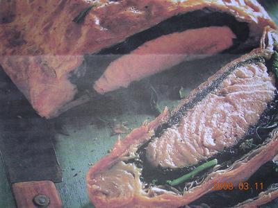 Feuilleté de saumon en habits vert - Photo par mona19