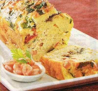 Cake aux crevettes et à la mozzarella - Photo par maryfu