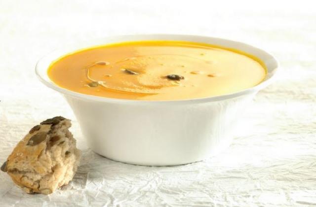 Soupe au potiron et ses pépins - Photo par Miele