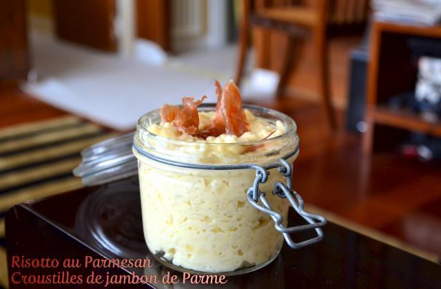 Risotto au parmesan et croustilles de jambon de Parme - Photo par blogch