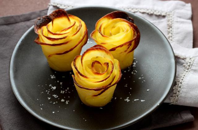 Pommes de terre en forme de roses - Photo par Silvia Santucci