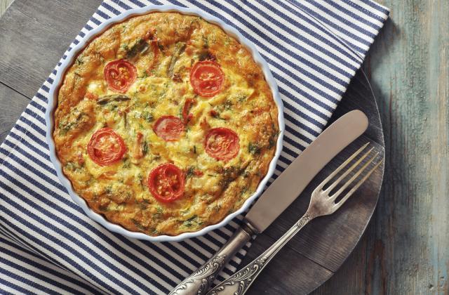 Quiche aux courgettes et aux tomates cerises - Photo par jocya1