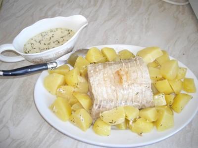 Rôti de porc au lait, pommes fondantes - Photo par eliela