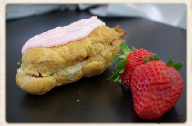 Eclair à la fraise - Photo par kroline
