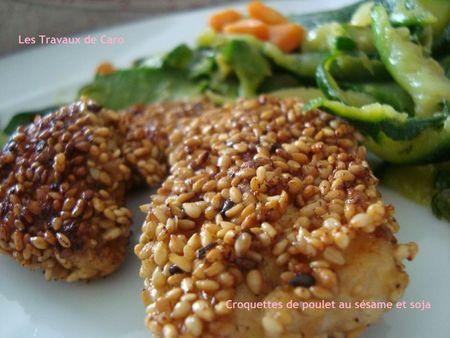 Croquettes de poulet au sésame et soja - Photo par les travaux de caro