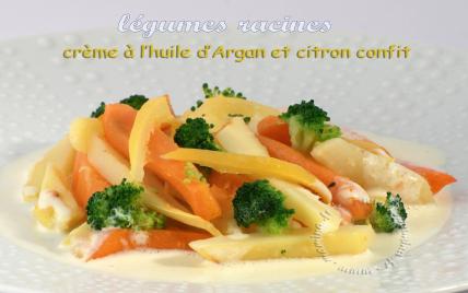 Légumes anciens à l'huile d'Argan et au citron confit - Photo par Mamina