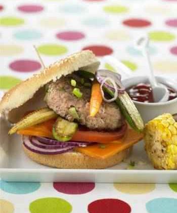 Burger de veau de Pentecôte aux petis légumes - Photo par 750g