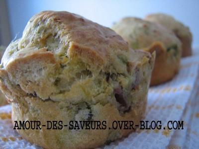 Muffins printaniers au jambon de bayonne - Photo par marrou