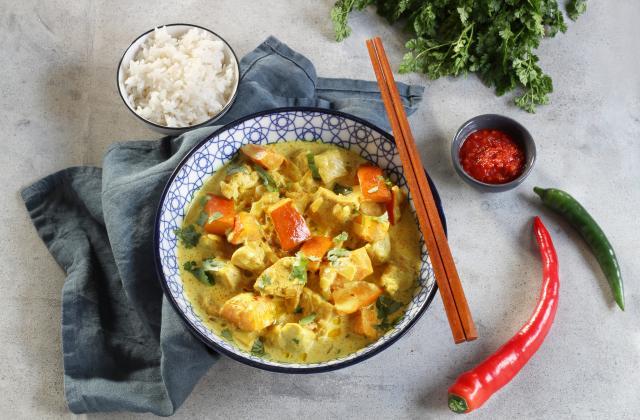 Curry de poulet et lait de coco au potimarron - Photo par Silvia Santucci