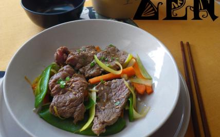 Filet de bœuf et légumes croquants au wok - Photo par Communauté 750g