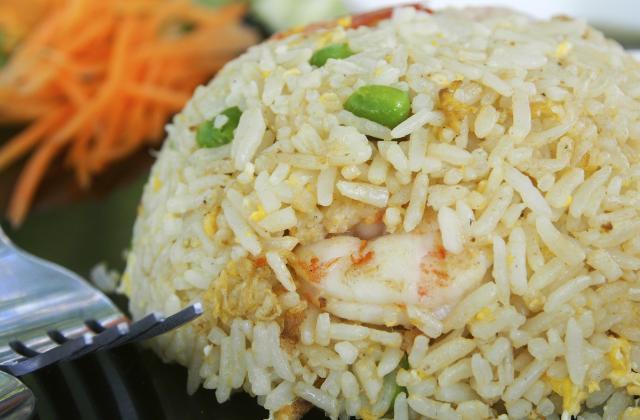 Riz façon cantonais aux crevettes - Photo par Bérengère