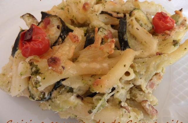 Gratin de pâtes au boursin, brocolis et courgettes - Photo par Carmen
