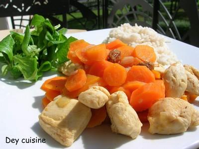 Mijoté de poulet, carottes & raisins secs - Photo par DeyCuisine