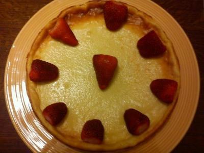 Cheescake allégé petit beurre fraise - Photo par candre