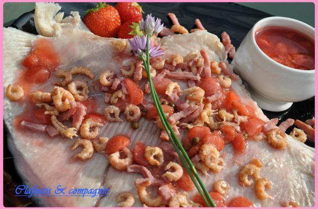 Raie aux fraises sucrée-salée - Photo par isabelWmf