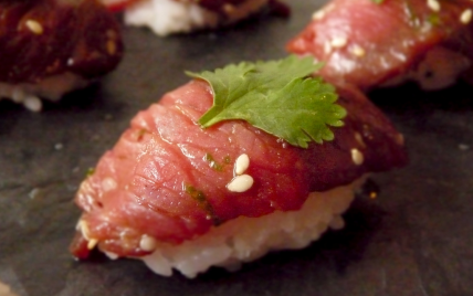 Sushi de bœuf - Photo par Anne Demay