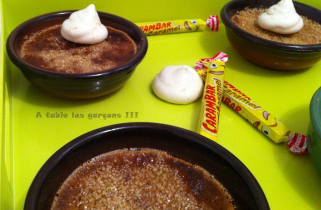 Crème brûlée au carambar originale - Photo par A table les garçons !!!
