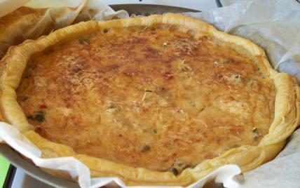 Tarte au thon et poivrons grillés - Photo par dcriqu