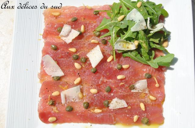 Carpaccio de thon frais - Photo par cricri3005
