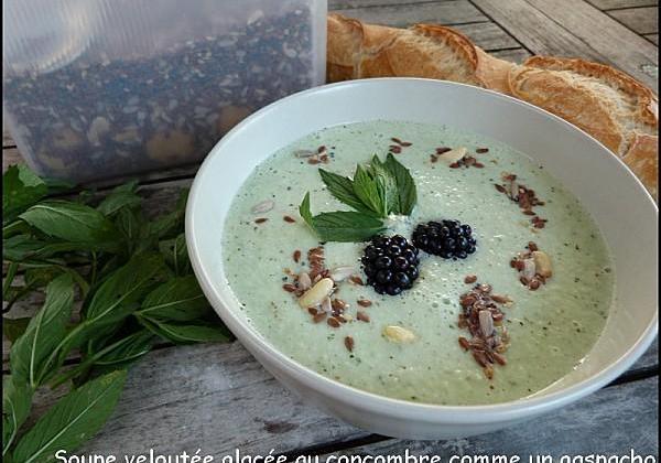 Soupe, velouté glacé au concombre comme un gaspacho - Photo par aureliVD